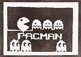 Póster Pac-Man Arcade Comecocos Grafiti Hecho A Mano - Handmade Street Art - Artwork