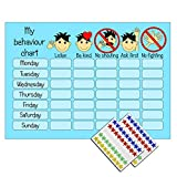 Happy Learners Boys Blue Behaviour Reward Chart 90 Stickers - Encourage good behaviour at home and school