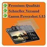 2 x Displayschutzfolie von 4ProTec für Canon PowerShot G15 - Nahezu blendfreie Antireflexfolie