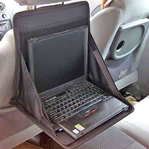 Hrph Auto Folding Laptop-Halter Multifunktionsrücksitz Notebook Tisch Essen Dining Schreibtisch Tragbarer Organizer (Multi-funktion-laptop-tisch)