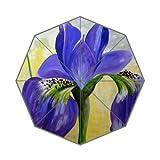 Flipped Summer Y Gespiegelt Sommer Y Violett Iris Blumen Malerei Individuelle Art Prints Regenschirm