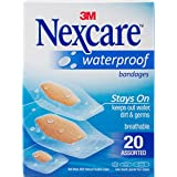 Nexcare Waterproof Bandages 20/Pkg-Assorted Sizes