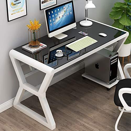 YQ WHJB Glas Klar Computertisch,große Einfache Computer Schreibtisch,100% Metal Frame Büro Schreibtisch Studie Schreiben Laptop Workstation Baugruppe-i 120x60x75cm(47x24x30inch) -