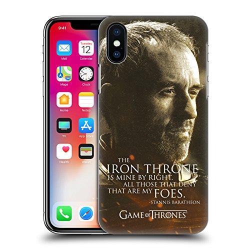 Ufficiale HBO Game Of Thrones Jon Snow Ritratti Dei Personaggi Cover Retro Rigida per Apple iPhone X Stannis Baratheon