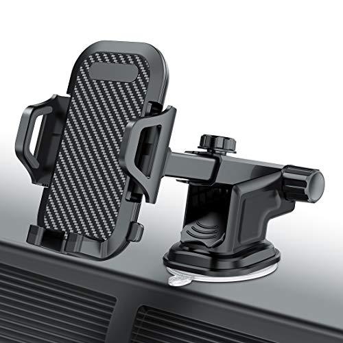 Handyhalter fürs Auto Handyhalterung Saugnapf/Lüftung Handy Halter für Alle Smartphone Halterung Kfz Kompatibel iPhone 11 Pro Xs Max XR X 8 7 6 Plus,Samsung S10 S9 S8 S7 S6, Huawei 30 Pro und andere