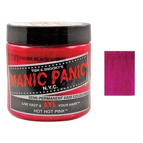 Manic Panic Semi Permanent Hair Color Cream - Hot Hot Pink 4 oz. by Tish and Snooky's