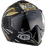 Studds Full Face Helmet Downtown D1 (Black N12, M)