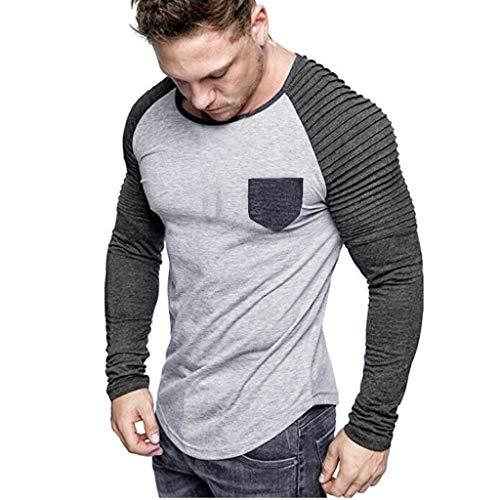 ღLILICATღ Camisa Vestir Hombre Camisa Empalme