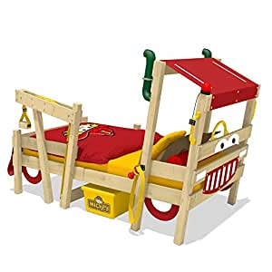 WICKEY Feuerwehrbett CrAzY Sparky Max Kinderbett 90x200cm mit Lattenboden