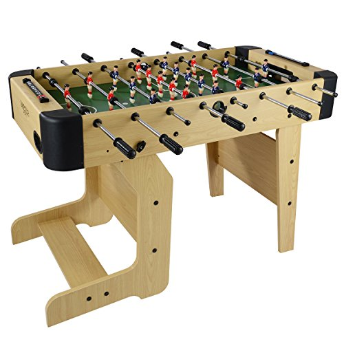 4ft Folding Football Table Wooden Soccer Games Top Jump Star Sports