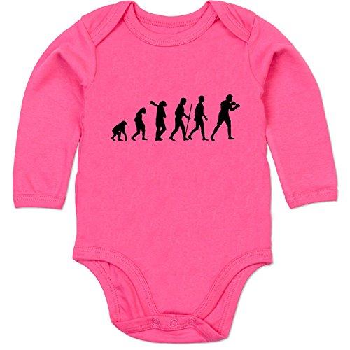 er Evolution - 12-18 Monate - Fuchsia - BZ30 - Baby Strampler aus organischer Baumwolle für Mädchen und Jungen (Herren-boxer Strampelanzug)