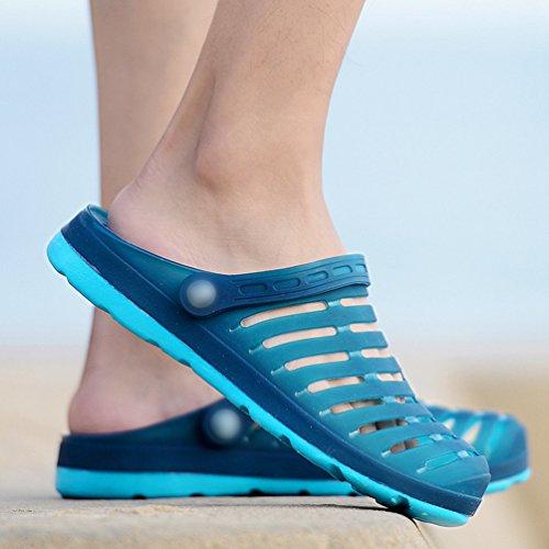 YiLianDa Sommer Sandale Herren Clog Breathable Strand Aqua Walking Anti-Rutsch Sommer Hausschuhe Blau
