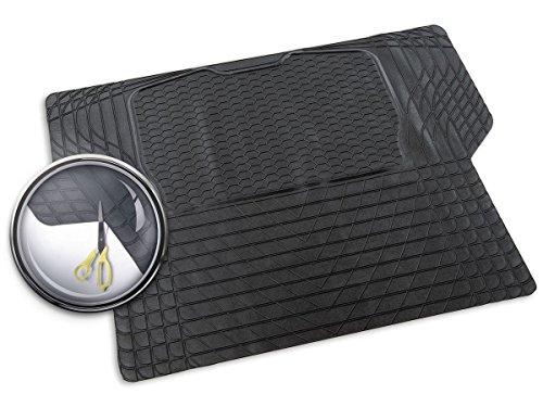 PRIOPA Gummi-Kofferraummatte zuschneidbar 140 cm x 108 cm mit einer Anti-Rutsch-Matte, PVC - A036736