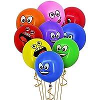 Crazy-M 50 Pezzi Smiley Palloncini in Lattice Faccina Espressione Faccia Palloncino Smiley Palloncini Festa Vari Divertenti Bambini Palloncini in Lattice novità Matrimonio