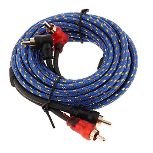 Almencla 2000W Auto Verstärker Kabel Auto Audio Subwoofer Amp RCA Power Cable Blau - Amp 2000 Auto Watt
