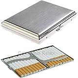 Automatische Regular Größe Zigarettenetui Edelstahl für bis zu 20Zigarette (Zigarettenetui Uni Design)