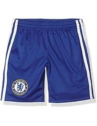 Adidas Chelsea FC 2015/16 H SHO Y Pantalón Corto, Niños, Azul/Blanco, 7-8 años