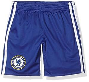 Adidas Cfc H Sho Y 1ª Kit Chelsea Fc 2015/16 Pantaloncini, Bambino, Blu/Bianco (Cheblu/Blanco), 164