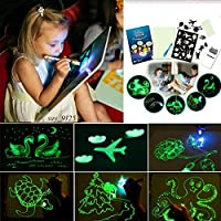 Funmazit Light up Drawing Board Draw with Light Toy Educational Fluorescent Luminous Board Toy with Pen for Children Kids Gift,Doodle,Art,Write(A4 23.2*1.5*33.2CM)