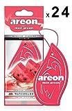 AREON Mon Auto Lufterfrischer Wassermelone Duft Autoduft Rot Anhänger Hängend Aufhängen Spiegel Pappe 2D Wohnung (Watermelon Set Pack x 24)