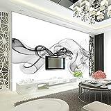 HUANGYAHUI Murales  3D Tv Fondo Salón Murales Pared Del Dormitorio Tela Sueño Humo Pintura Decorativa