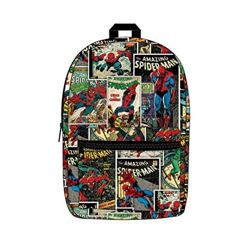 Offizielle Marvel Spider-Man Sublimated Laptop Rucksack Tasche - Comic Book Print - Shirt Vintage Spiderman