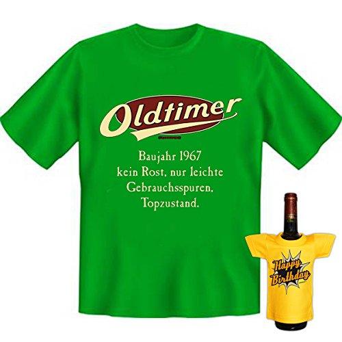 OLDTIMER,1967, leichte Gebrauchsspuren,Top-Zustand Baujahr Set Goodman Design® Cooles T-Shirt Gr: Farbe: hellgrün Hellgrün