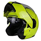 Woljay Casque Modulable Pare Soleil Interne Moto Scooter (M, Jaune)