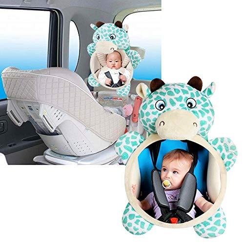 Womdee Baby Auto-Spiegel, Kinderrücksitzspiegel Rückspiegel, Rückspiegel, Rückspiegel, Plüschtier Spielzeug, Autositz Konvexspiegel für Sicherheit Auto Rücksitz, leicht Sicht Spiegel für Kleinkinder