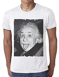 Albert Einstein: T-shirt,cadeau,Homme,Blanc,t shirt homme