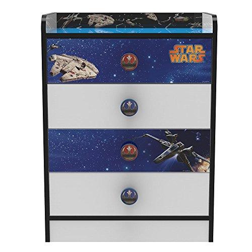 Stor Commode avec tiroirs d'enfant | STAR WARS | Disney - Dimensions: 80,5 x 60 x 40 cm. -Plusieurs personnages