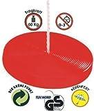 regenfeste Affenschaukel ca. 30cm, Tellerschaukel, Kunststoffteller in rot, Tragkraft bis ca. 60Kg