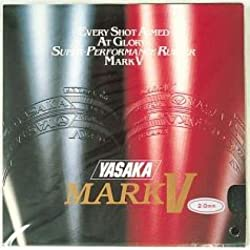 Yasaka Mark V Table Tennis rubber(Red)