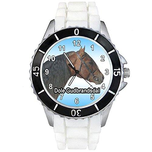 cheval-dole-gudbrandsdal-montre-unisex-bracelet-silicone-blanc