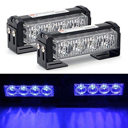"2x 4LED Strobe Blitzlicht, Mesllin 5 \""20W / set Notfall Fahrzeug Auto Dash Warnlicht Bar 12 V Polizei Lampe (blau)"