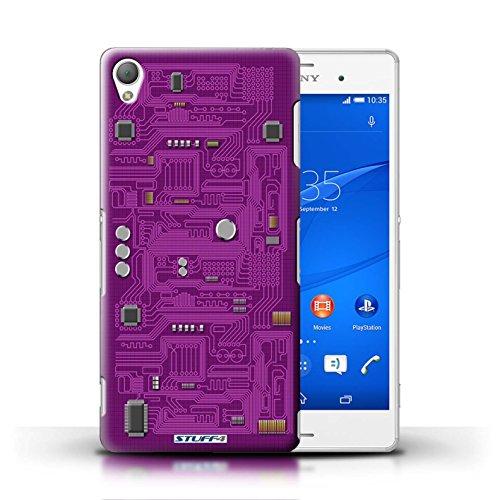 Kobalt® Imprimé Etui / Coque pour Sony Xperia Z3 / Rouge conception / Série Circuit Board Pourpre