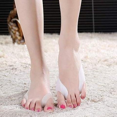 SOLES Pad para juanetes y separador de dedos con férula – Enderezador del pie de gran tamaño, ayuda a aliviar el dolor del pie – silicona hipoalergénica – un tamaño para todos