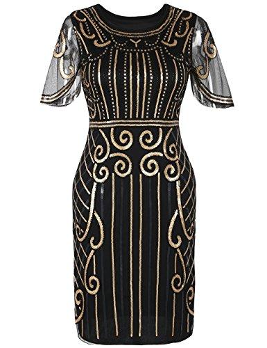 Kayamiya Damen Gatsby Kleid der 1920er Jahre inspiriert -