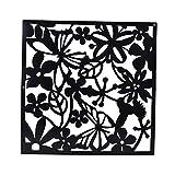 Sharplace 8pcs Hängend Schmetterling Blume Muster Raumteiler Trennwand Wand Aufkleber Wohnzimmer Schlafzimmer Räumen Dekoration aus Kunststoff - Schwarz