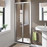800mm Bifold Easy Clean 6mm Glass Shower Enclosure Reversible Folding Door