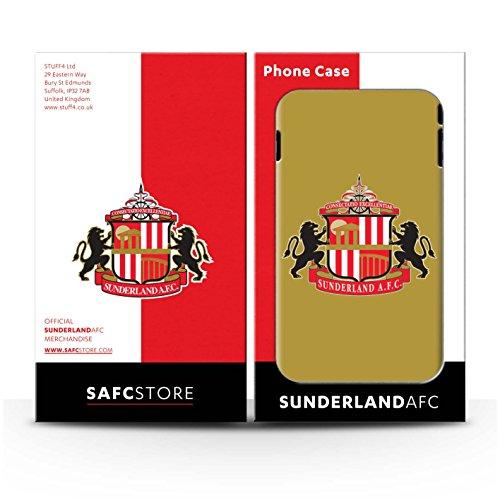 Offiziell Sunderland AFC Hülle / Glanz Snap-On Case für Apple iPhone 7 / Schwarz Muster / SAFC Fußball Crest Kollektion Gold