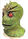 Le caoutchouc plantation TM 619219292344V les visiteurs Masque Alien Martien Monster Reptile Lizard Man Halloween déguisement accessoire de comic con Cosplay, adulte, taille unique