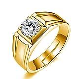 #2: Exclusive Limited Edition 24KT Gold Swarovski Crystal Adjustable Mens Rings
