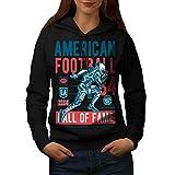 américain Football sport Femme L Sweat à capuche | Wellcoda