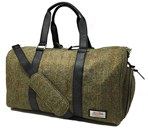 Harris Tweed Reisetasche Wochenende Tasche (Grun)