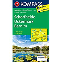 Schorfheide - Uckermark - Barnim: Wanderkarte mit Aktiv Guide und Radwegen. GPS-genau. 1:50000 (KOMPASS-Wanderkarten, Band 744)