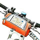 McNory Borsa da Trasporto Bicicletta Grande capacità,Custodia Porta Cellulare per Bicicletta con Touch Screen Sensibile Impermeabile Adatto per Smartphone sotto 7.1 Pollici