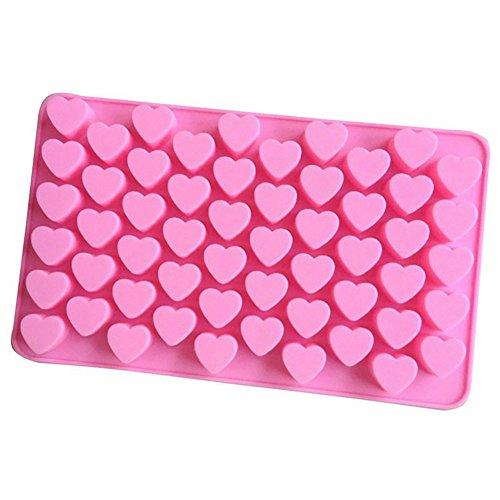 Shenye Eiswürfel Form 55 Mini-Herz Silikon Pralinen Form Backform Eiswürfel Schokolade Konfekt Trüffel (Trüffel-silikon-form)