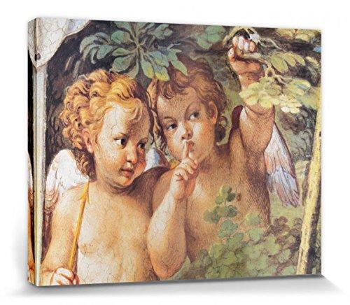 Annibale Carracci - Ángeles, Detalle De Diana Y Endimión, 1597 La Galería Farnesio Cuadro, Lienzo Montado Sobre Bastidor (50 x 40cm)