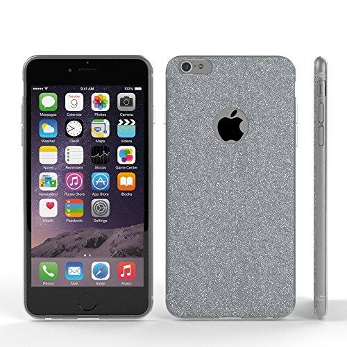 """Apple iPhone 6S / 6 Hülle, EAZY CASE Cover """"Henna"""" - Premium Handyhülle mit Indischer Sonne - Transparente Schutzhülle in Weiß / Transparent Silber"""
